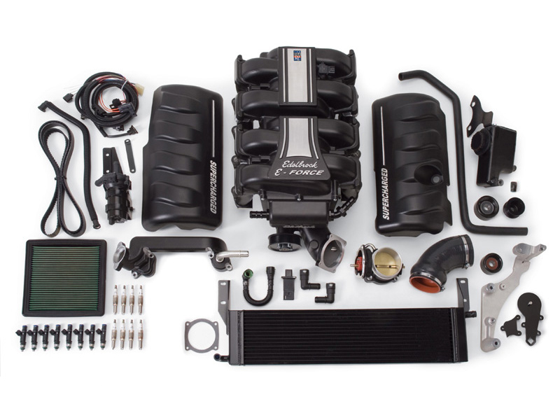 Компрессор Edelbrock E-Force Supercharger (Stage 1 - Street Systems) для Ford Mustang GT 4.6L (2010)