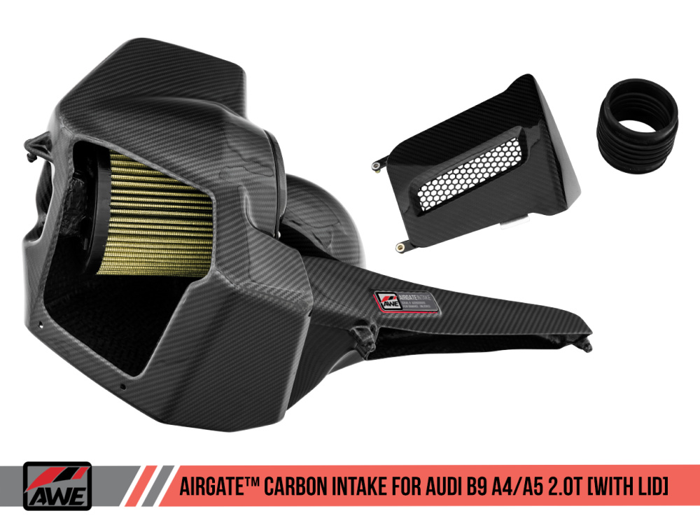 Впускная система AWE AirGate™ Carbon Intake для Audi A4/A5 (B9) (8W/F5) 2.0L Turbo (2.0 TFSI/EA888 Gen3B)