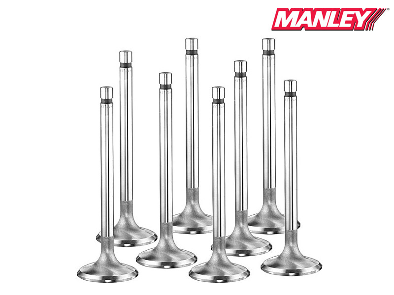 Впускные клапана Manley Race Flo / Race Master Hollow Stem (2.100 дюйма) для Chrysler/Dodge/Jeep (Hemi 370) 6.1L (Bead Loc) 11670HB-8