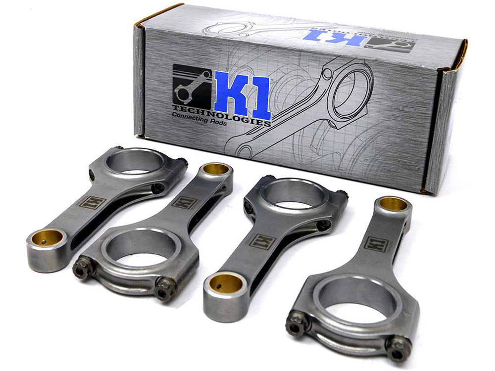 Шатуны K1 Forged 4340 H-Beam (ARP2000) для Honda Fit/Jazz/City (L15A) 1.5L (PIN 18mm)