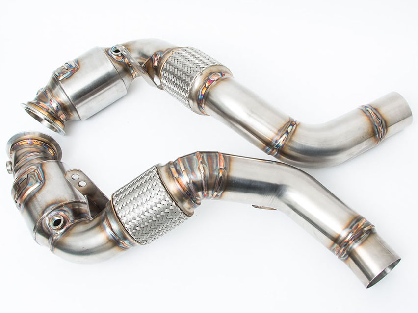 Спортивные даунпайпы (downpipes) Agency Power (катализаторы) для BMW X5M/X6M (F85/F86)
