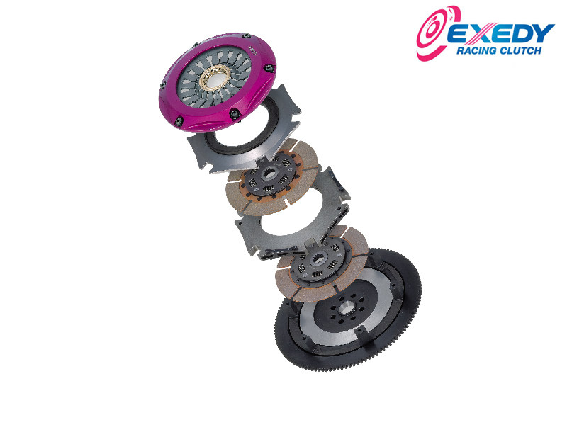 Сцепление Exedy Racing - Stage 5 Triple Metallic Clutch Kit Solid Hub, Push Type Clutch Nissan Skyline (1989-1993) NM033HRWH
