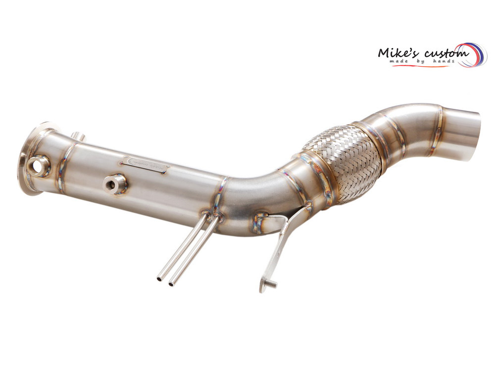 Спортивный даунпайп (downpipe) Mike's Customs (без кат) для BMW X5/X6 (F15/F16) N57