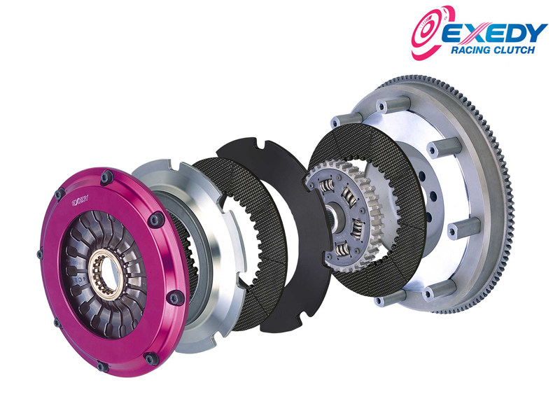 Сцепление Exedy Racing - Stage 4 Twin Carbon Clutch Kit Solid Hub Push Type Clutch Mazda RX-8 (2004-2007), Mazda RX-7 (1986-1991) ZM012SBMC
