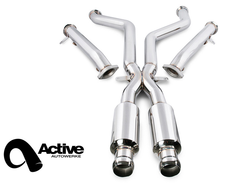 Средняя часть выхлопной системы Active Autowerke Signature (Race) (X-Pipe / Mid-pipe) для BMW M3 (E90/E92) Sedan/Coupe (2008-2013)