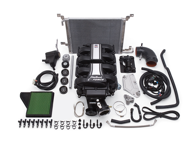 Компрессор Edelbrock E-Force Supercharger (Stage 2 - Track Systems) для Ford Mustang GT 5.0L (2011-2014)
