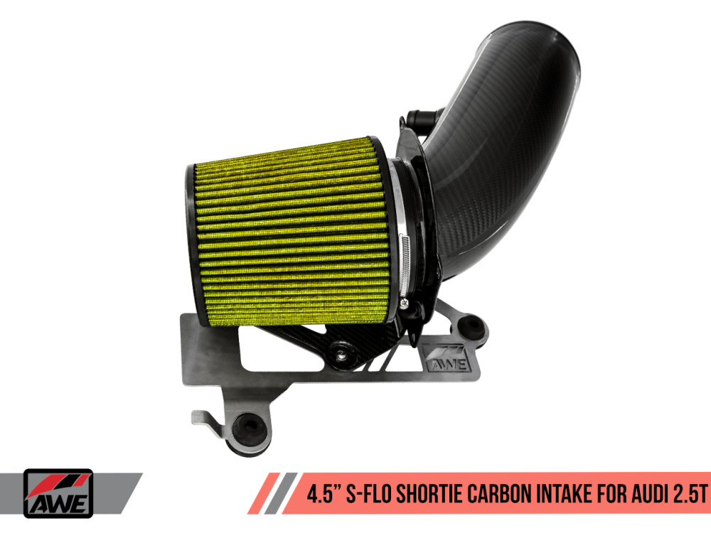 "Впускная система AWE 4.5"" S-FLO Shortie Carbon Intake для Audi TTRS (8S), RS3 (8V.1/8V.2) EA855/CEPA/CEPB/DAZA) 2.5L TFSI/EVO"