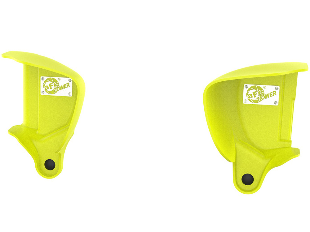 Воздухозаборники aFe Magnum FORCE (Neon Green) Dynamic Air Scoops для BMW M3/M4 (F80/F82) L6-3.0L (S55)