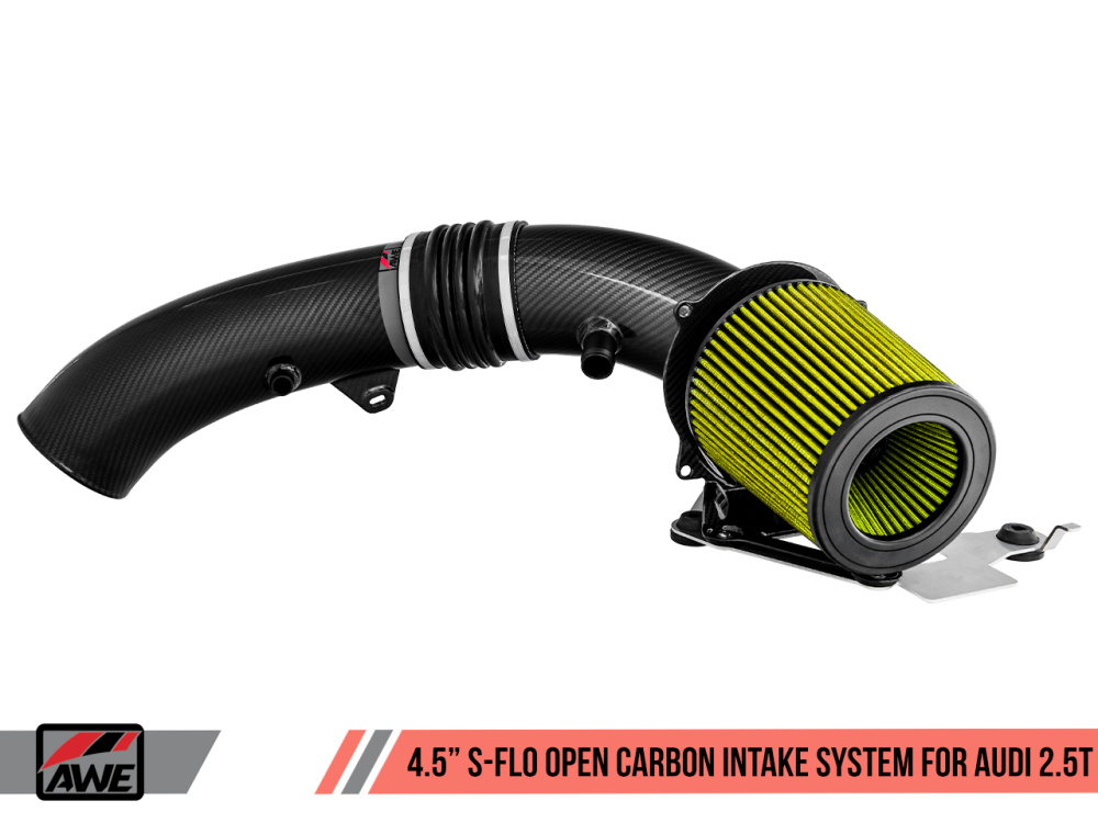 "Впускная система AWE 4.5"" S-FLO Open Carbon Intake для Audi TTRS (8S), RS3 (8V.1/8V.2) EA855/CEPA/CEPB/DAZA) 2.5L TFSI/EVO"