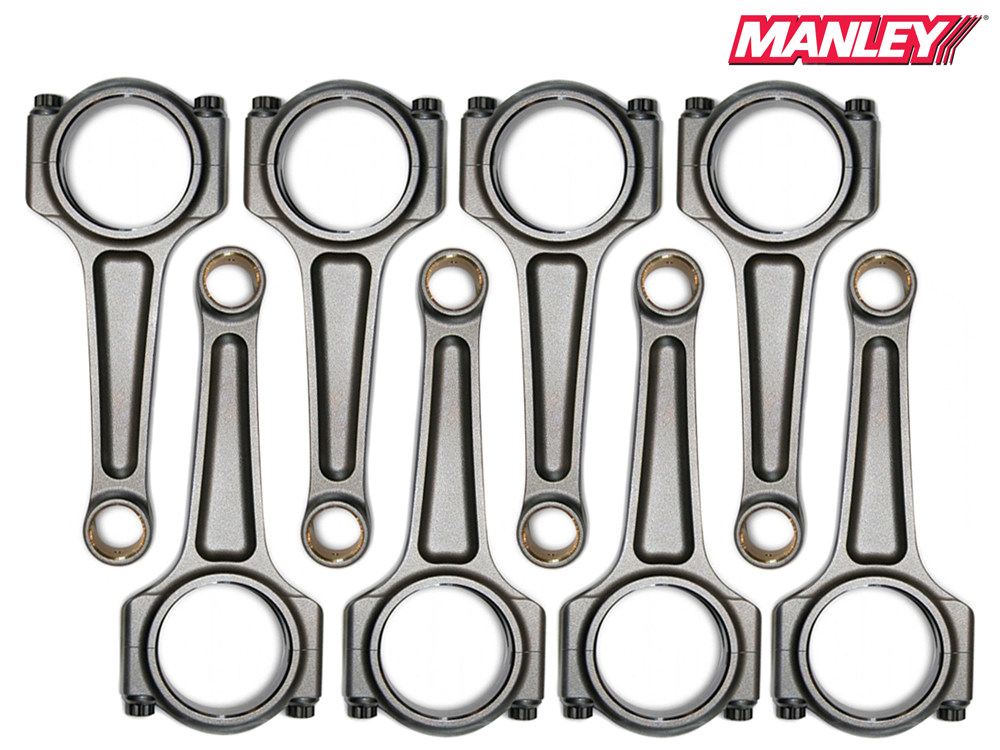 "Шатуны Manley Pro Series I-Beam 300M (ARP 2000) Chrysler/Dodge/Jeep (Hemi 345/370/392 Apache) 5.7L/6.1L/6.4L (PIN SB Chevy .927"" КВ 2.000"") STROKER"