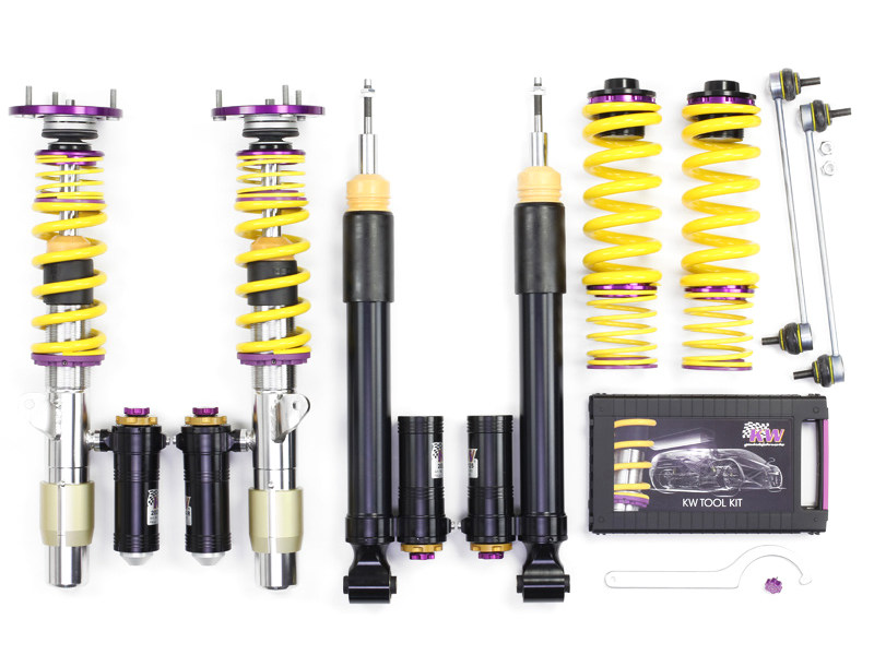 Винтовая подвеска KW Clubsport Coilover 3-Way (Top Mounts) Audi A3 (8L), TT Coupe/Roadster (8N), Seat Leon (1M)/Cupra R, VW Golf IV/GTI, New Beetle (9C) FWD 39780242