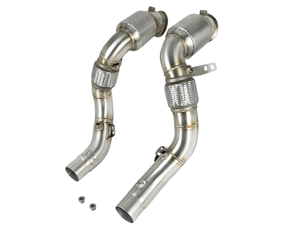 Спортивные даунпайпы (downpipes) aFe Power Street (катализаторы) для BMW X5M/X6M (F85/F86)